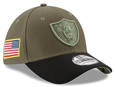 New Era 39Thirty Hat Oakland Raiders NFL On-field Salute to Service Flex Cap