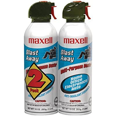 Maxell 190026 Blast Away Canned Air 154a Formula, 10 0z., 2-Pack from MaxelL