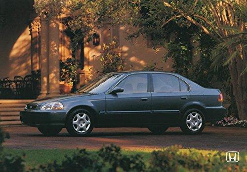 1998 Honda Civic Sedan Coupe Hatchback ORIGINAL Factory Postcard