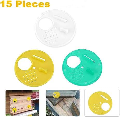 Beehive Door Beekeeping Box Plastic Entrance Disc Bee Nest Gate 5Pcs// Set