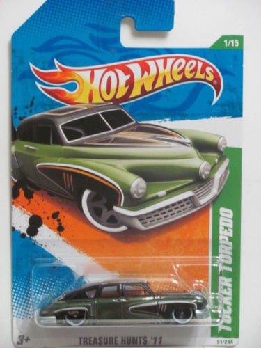 2011 Hot Wheels Super Treasure Hunt Tucker Torpedo (Dark Green) (Torpedo Tucker)