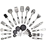 'HULLR 23-Piece Stainless Steel Kitchen Utensils, All Purpose Cookware Utensil Set' from the web at 'https://images-na.ssl-images-amazon.com/images/I/51aP9fIgupL._AC_SR150,150_.jpg'
