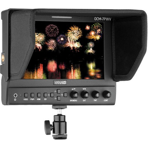 Elvid 7'' FieldVision On-Camera 3G-SDI & HDMI Pro LCD Monitor with Scopes by Elvid