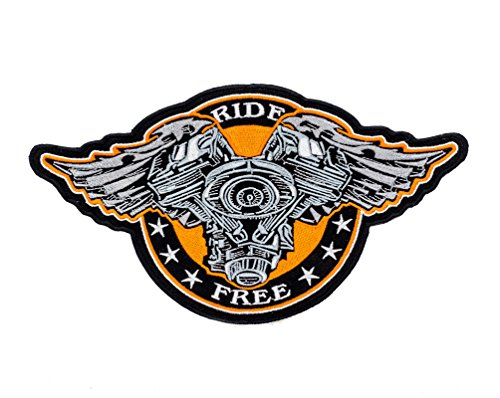 V-Twin Engine RIDE FREE Black w/ Orange 10