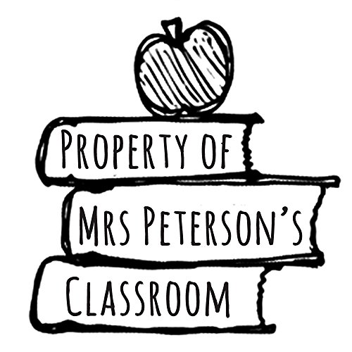 Personalized Teacher Stamp - Property of classroom book stamp Custom name text Self inking return address business personalized name pre ink round stamp 1.5