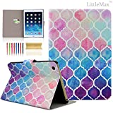 iPad Air 2 Case,LittleMax(TM) Ultra Slim Flip Case Smart Folio Case Stand [Card Holder] Case Cover for iPad Air 2 / iPad 6 - 9.7 Inch [Free Cleaning Cloth,Stylus Pen]-#2 Colorful Lantern