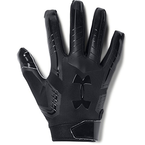 Under Armour mens F6 Football Gloves Black (002)/Black Large