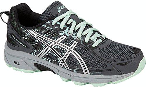 ASICS Womens Gel-Venture 6 (D) Road Running Shoe, Black/Carbon/Green, 10.5 D US