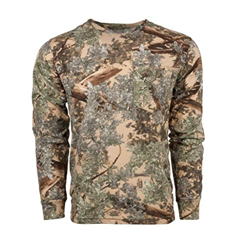King's Camo Cotton Long Sleeve Hunting Tee, Desert Shadow, Large (Clothing Camo Mens)
