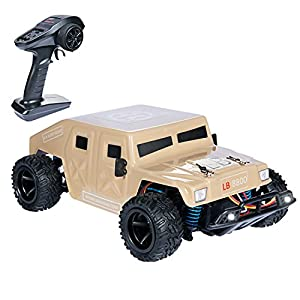 iHobby RC Car All Terrain - Remote Control Electric Truck,RC Monster Truck 4x4 Off Road,RC Fast Car,20MPH,RC Truggy 1/24 Scale,RC Car for Kids,Desert Yellow