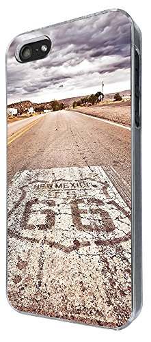 002721 - Famous Route 66 Mexico America Design iphone 5 5S / iphone SE 2016 Hülle Fashion Trend Case Back Cover Metall und Kunststoff -Clear