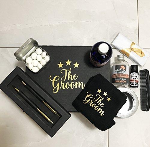 Deluxe sposi Morning nero e oro regalo riempito con wedding Morning Essentials