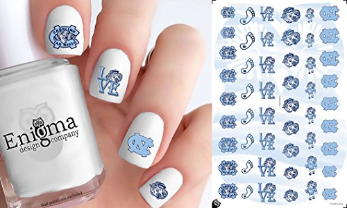 NC Tar Heels Accessories (Clear Water-Slide Nail Decals)