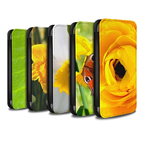 Stuff4 Coque/Etui/Housse Cuir PU Case/Cover pour Apple iPhone 8 Plus / Multipack Design / floral Fleurs Collection