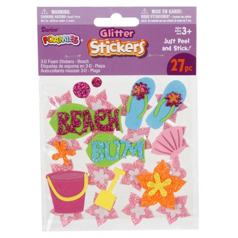 54 Glitter Beach Foamies(2 Packages)/ARTS & CRAFTS/SCRAP BOOKING/Peel off Stickers