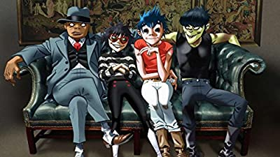 MOTIVATION4U Gorillaz an English Virtual Band Musician Damon Albarn, Artist Jamie Hewlett, Four Animated Members : 2-D Murdoc Niccals Noodle and Russel Hobbs 12 X 18 inch Poster