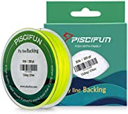 Piscifun Fly Line Backing Braided Fly Fishing Backing Line 20lb 30lb 100yd 300yd Orange White Yellow Yellow/Bl