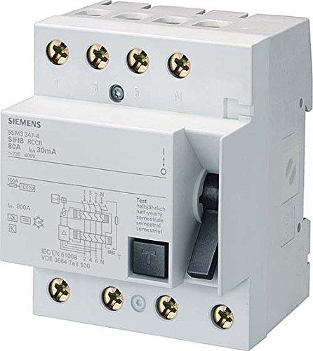 Siemens 5SM3644-6 FI Schalter 40A 300mA 4 polig