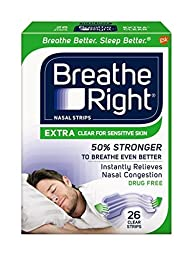 Breathe Right Extra Clear for Sensitive Skin, 104 Count (avtp52)
