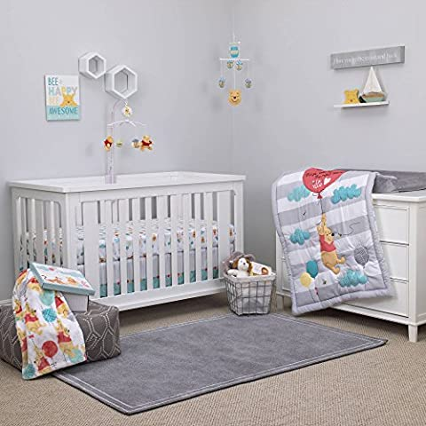 Winnie Pooh Crib Bedding 4 Piece Set Includes Keepsake Box Baby Boy GIrl Bedding