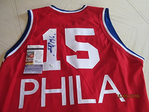 HAL GREER (Rare) Signed 1960's Style Philadelphia Jersey -JSA Authenticated #E13799