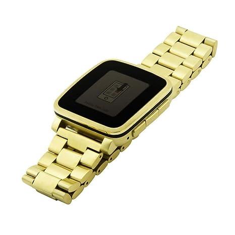 squarex - Correa de reloj de acero inoxidable para reloj ...