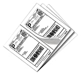 SJPACK 1000 Half Sheet Self Adhesive Shipping Labels 8.5'' x 5.5'' Address Labels for Laser & Inkjet Printers