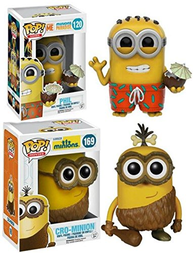 Funko POP! Minions: Cro-Minion + Phil - Stylized Movie Vinyl Figure Set NEW