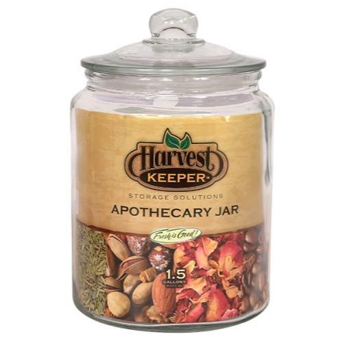 Harvest Keeper Glass Storage Apothecary Jar w/ Sealed Lid...
