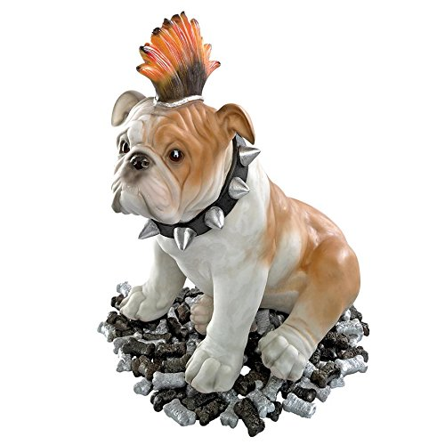 Madison Collection Sid Victorious Punk Bulldog Statue
