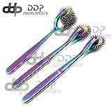 DDP Set of 3 Wartenberg Neurological Pin Wheel Pinwheel 2, 3, 7 Head Diagnostic Multi Color Rainbow