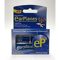 EP2 por Cirrus Healthcare Segunda generación EarPlanes Tapones para los oídos Protección auditiva contra el vuelo Aire y ruido (1 par reutilizable)