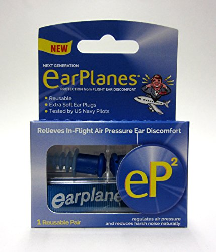EarPlanes eP2 Reusable earplugs 1 pair