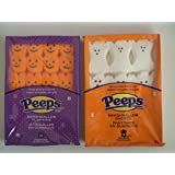 Peeps Marshmallow Pumpkins and Marshmallow Ghosts Variety Pack (2 Packs)