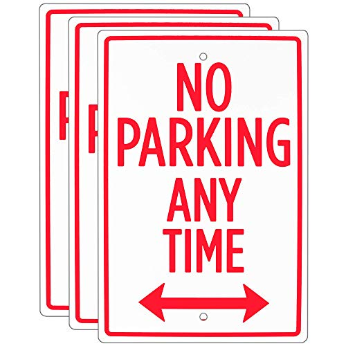 Signs Metal Business - No Parking Any Time Sign (3-Pack) – 18