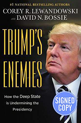 Audiobook cover from Trumps Enemies - Signed / Autographed Copy by Corey R. Lewandowski