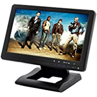 BW 10.1 Inch Touchscreen USB Monitor with Built-in Speakers - Black