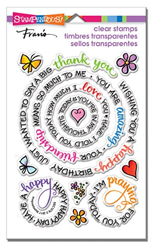 Stampendous SSC1276 Circular Messages Clear Stamp