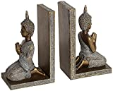 Set of 2 Kneeling Thai Buddha Bookends