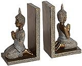 Set of 2 Kneeling Thai Buddha Bookends