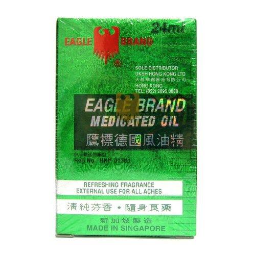 Eagle Brand Medicated Oil 0.8 Oz - 24 ml Bottle (Eagle Oil)