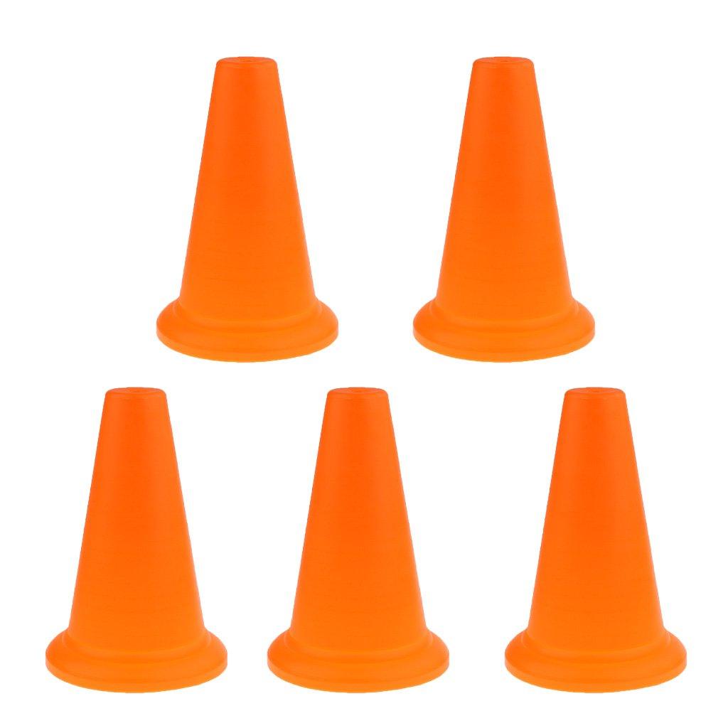 monkeyjack 5ピース耐久性PE Traffic Cones Safety Conesスポーツトレーニングコーン14.5インチ B0785WJ4QF オレンジ  オレンジ