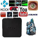 Leelbox MXQ Android TV Box Amlogic S805 Quad Core Kodi Pre installed Android 4.4 1gb RAM 8gb Flash smart tv box