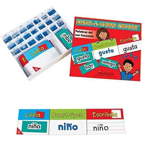 Really Good Stuff Make-a-Word Center: Spanish High- Frequency Words - Helps Students Master High-Frequency Word Recognition - Students Read, Build, and Write Spanish High-Frequency Words