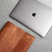 Funda De Piel Café Claro Para Macbook Pro Touch Bar, Pro Retina 12 13 15 Pulgadas, Estuche, Folio De Apple Para Hombre. Monograma Personalizado. Regalo De Cumpleaños Y Aniversario//MINIAL HAVANA