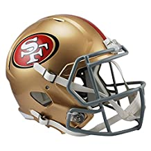 NFL San Francisco 49Ers Riddell Full Size Replica Speed Helmet, Medium, Gold