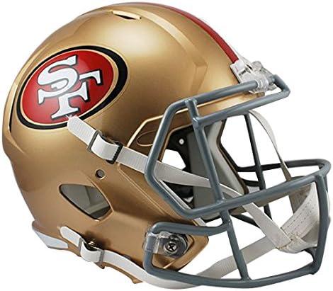 Riddell NFL San Francisco 49Ers Full Size Replica Speed Helmet, Medium, Gold 51aPEZrwe4L