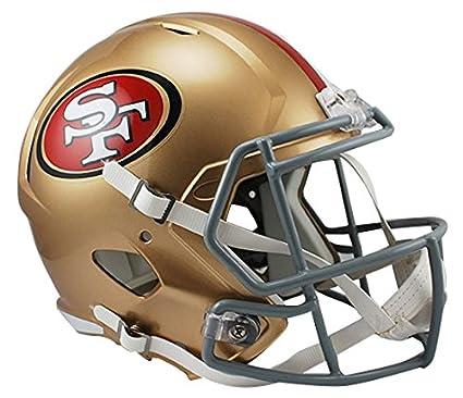 cd866afbf01 Amazon.com   Riddell NFL San Francisco 49Ers Full Size Replica Speed Helmet