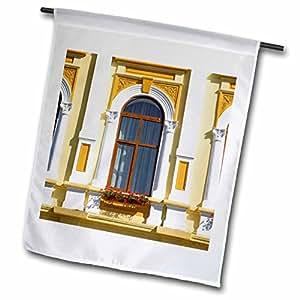 VWPics Romania - Window of Town Hall, Gura Humorului, Southern Bucovina, Moldavia, Romania - 18 x 27 inch Garden Flag (fl_46286_2)