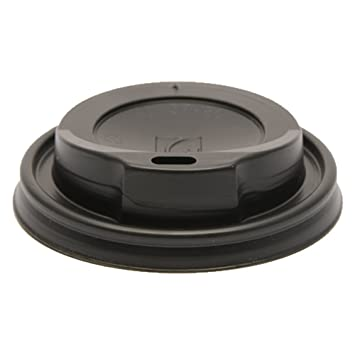 Paper Cup Company 80mm Black Disposable Plastic Hot Drink